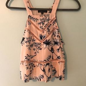 Kendall and Kylie Pink Floral Tank Top Size XS